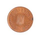 Moneda rumana 2008 años. Imagen de archivo libre de regalías