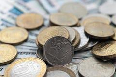 Moneda rusa una rublo Imagenes de archivo