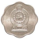Moneda srilanquesa de 2 centavos de la rupia Imágenes de archivo libres de regalías