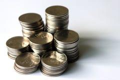 Moneda tailandesa del dinero del baño Fotografía de archivo