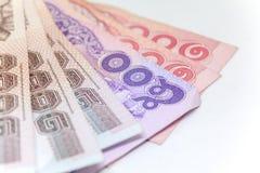 Moneda tailandesa en fondo y aislada Foto de archivo libre de regalías