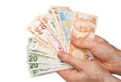 Moneda turca Fotos de archivo