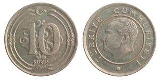 Moneda turca del kurus Fotos de archivo libres de regalías