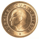 1 moneda turca del kurus Fotografía de archivo