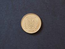 Moneda ucraniana de 10 copecs del hryvnia Imágenes de archivo libres de regalías