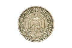 Moneda vieja 1950 un Marco alemán imágenes de archivo libres de regalías