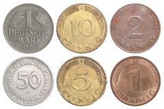Moneda vieja de Alemania Imagen de archivo libre de regalías