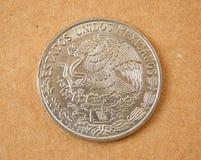 Moneda vieja de México Fotografía de archivo