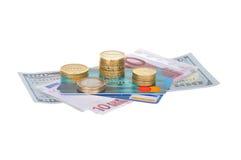 Moneda y negocio imagen de archivo