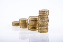 Monedas 1 imagenes de archivo