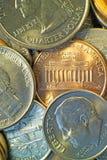 Monedas 2 del americano fotografía de archivo libre de regalías