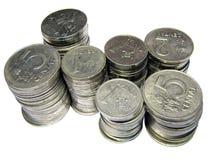 Monedas Imagen de archivo libre de regalías