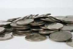 Monedas 5 foto de archivo libre de regalías