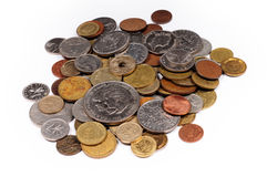 Monedas fotografía de archivo libre de regalías