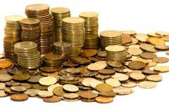 Monedas aisladas imagenes de archivo