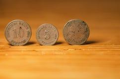 Monedas alemanas imagen de archivo libre de regalías