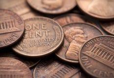 Monedas americanas imagenes de archivo