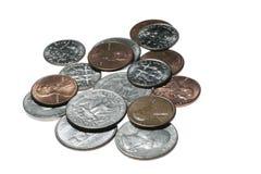Monedas americanas Imágenes de archivo libres de regalías