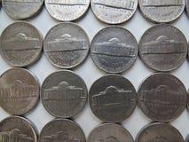 Monedas americanas Imagen de archivo libre de regalías