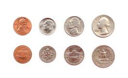 Monedas americanas Foto de archivo libre de regalías