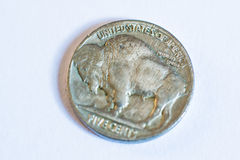 Monedas americanas Algunos son viejos histórico Foto de archivo libre de regalías