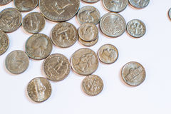 Monedas americanas Algunos son viejos histórico Imagenes de archivo