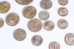 Monedas americanas Algunos son viejos histórico Imagen de archivo