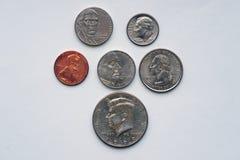 Monedas americanas con los retratos imagen de archivo libre de regalías