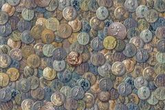 Monedas antiguas Foto de archivo libre de regalías
