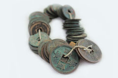 Monedas antiguas Imágenes de archivo libres de regalías