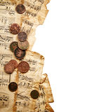 Monedas antiguas Fotos de archivo