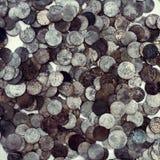 Monedas antiguas muy viejas imagen de archivo