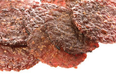 Monedas asadas a la parilla barbacoa de la carne de vaca aisladas Fotografía de archivo
