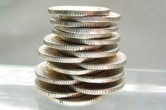 Monedas - balance Fotos de archivo libres de regalías