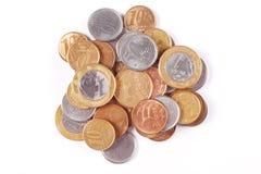 Monedas brasileñas del dinero imagen de archivo libre de regalías