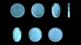 Monedas brillantes de alta resolución del metal del azul de cielo libre illustration