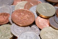 Monedas británicas Fotografía de archivo
