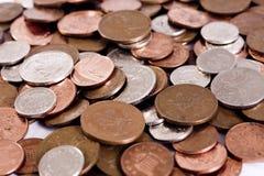 Monedas BRITÁNICAS Foto de archivo