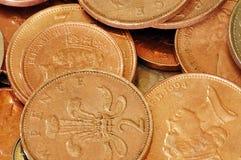 Monedas BRITÁNICAS - 2ps Fotos de archivo libres de regalías