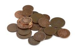 Monedas británicas Fotos de archivo