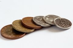 Monedas checas, coronas Imagenes de archivo