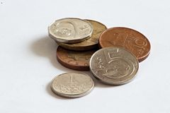 Monedas checas, coronas imagen de archivo