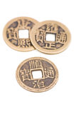 Monedas chinas antiguas fotos de archivo