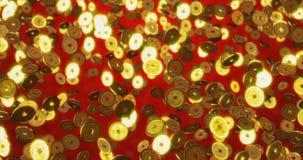 Monedas chinas de oro imágenes de archivo libres de regalías