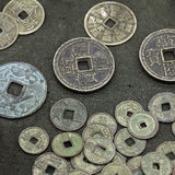 Monedas chinas viejas Fotografía de archivo