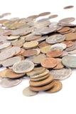 Monedas clasificadas fotografía de archivo libre de regalías