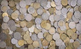 Monedas colombianas Imágenes de archivo libres de regalías