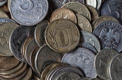 Monedas como fondo Foto de archivo libre de regalías