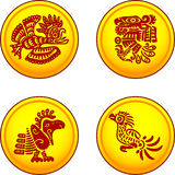Monedas con los pájaros Foto de archivo libre de regalías
