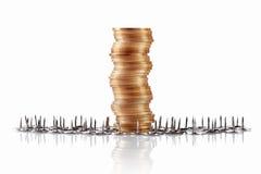 Monedas, concepto del depósito Foto de archivo libre de regalías